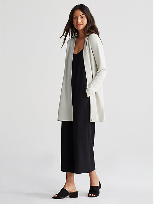 Silk Organic Cotton Interlock Cardigan