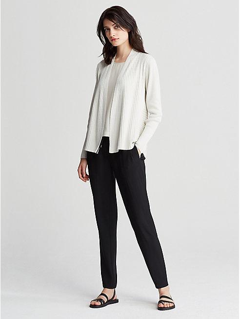 Silk and Organic Cotton Rib Cardigan