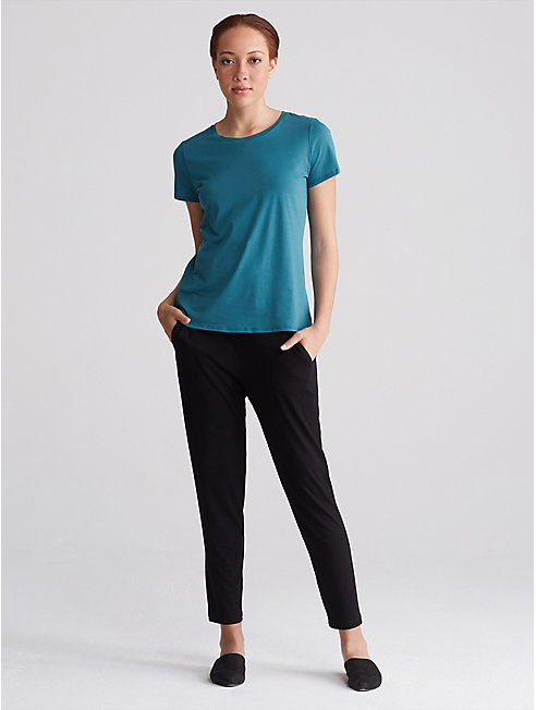 Organic Cotton Jersey Round Neck Tee