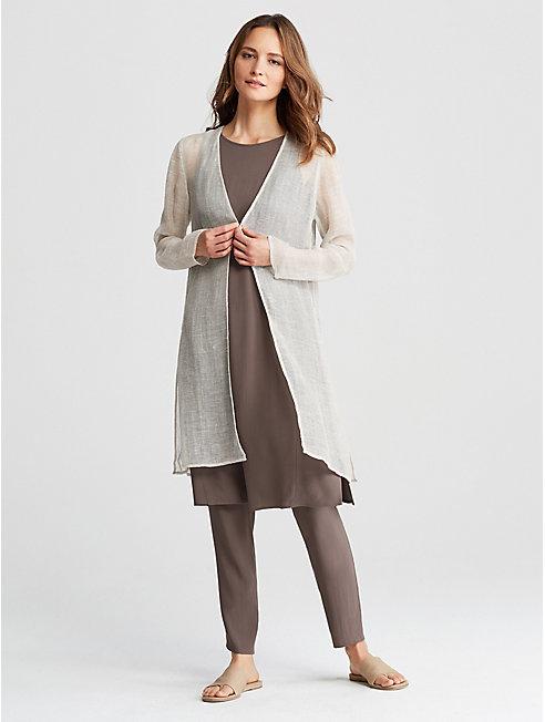Organic Linen Mesh Jacket