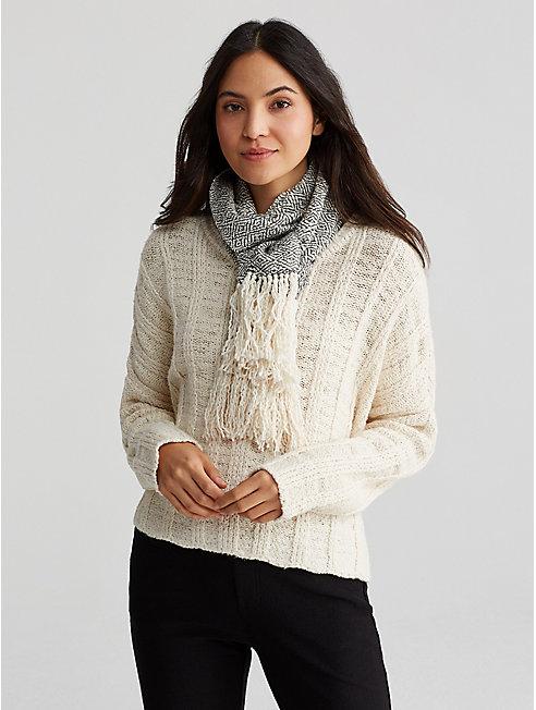 Handwoven Peruvian Organic Cotton Scarf