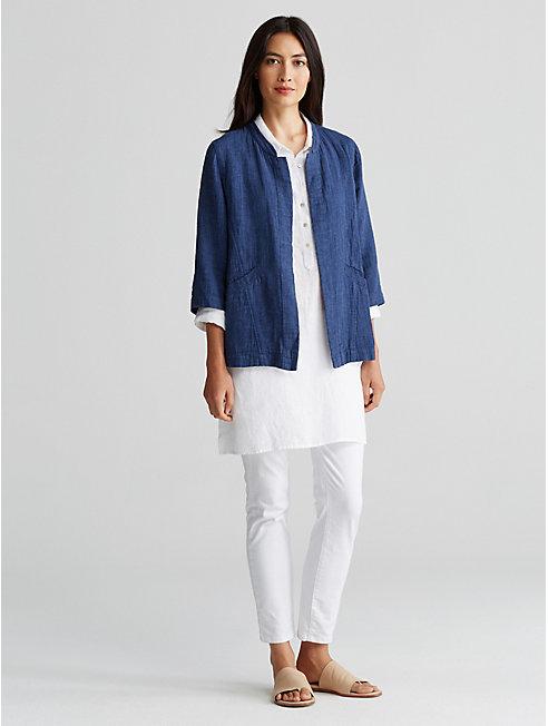 Organic Linen Cotton Doubleweave Jacket
