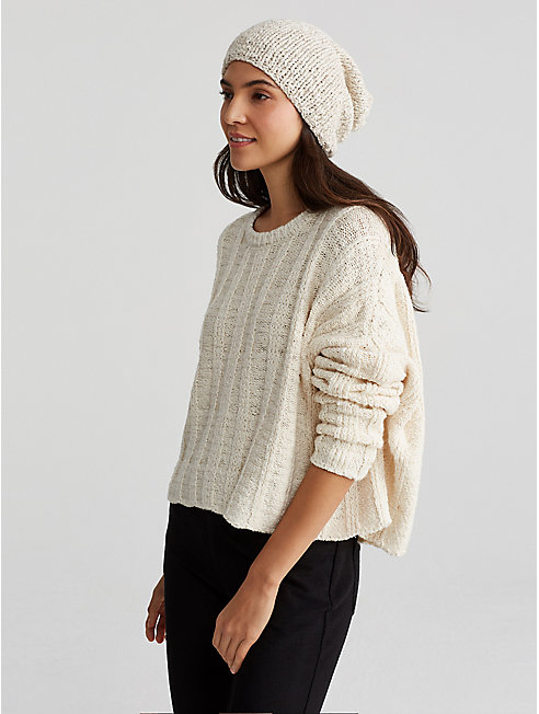 Handknit Peruvian Organic Cotton Pom-Pom Hat