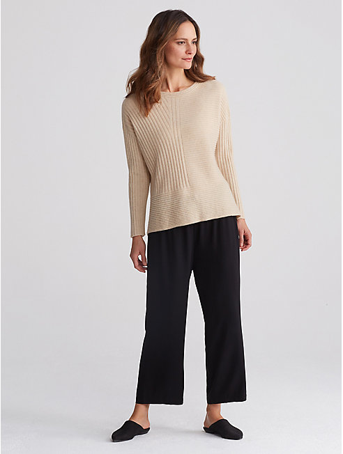 Seamless Italian Undyed Cashmere Top