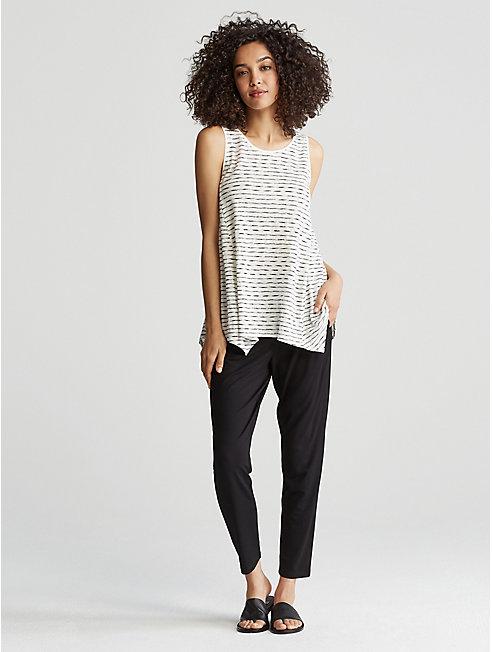 Painterly Organic Linen Jersey Top
