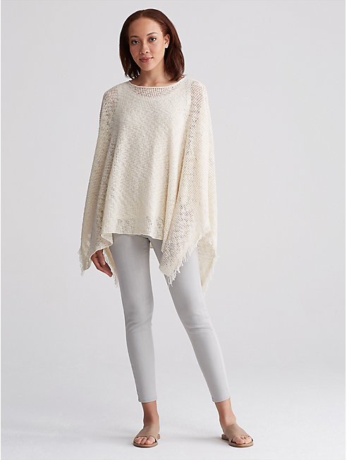 Organic Cotton Nubble Poncho