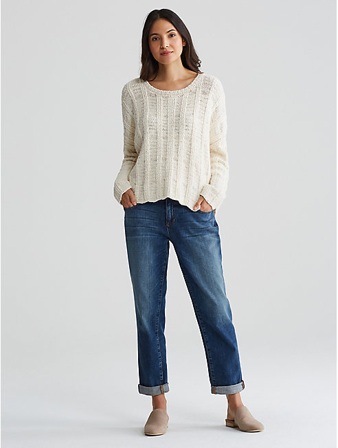 Peruvian Organic Cotton Box-Top Sweater