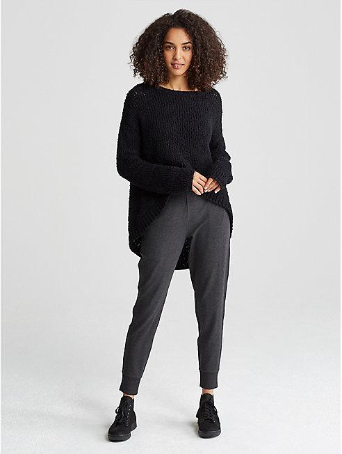 Peruvian Organic Cotton High-Low Sweater