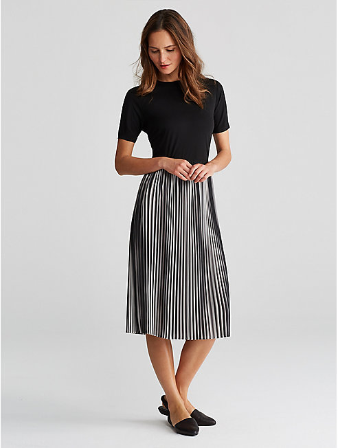 Ombre Pleated Recycled Polyester Skirt