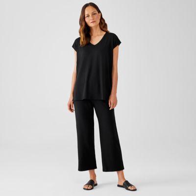 Stretch Jersey Knit Straight Pant