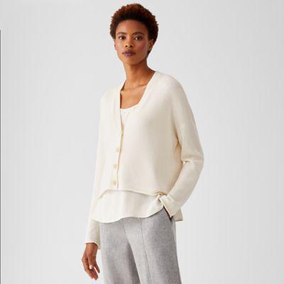 Peruvian Organic Cotton Blend Cropped Cardigan
