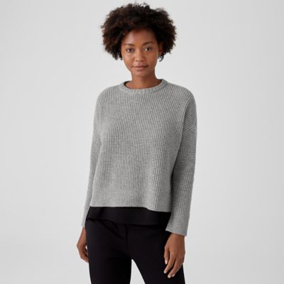 Lofty Recycled Cashmere Crew Neck Top