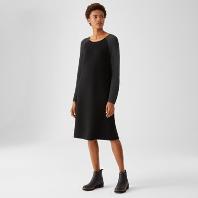 Merino Rib Dress in Regenerative Wool