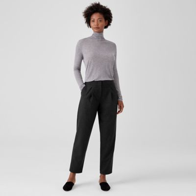 Soft Wool Flannel Tapered Pant