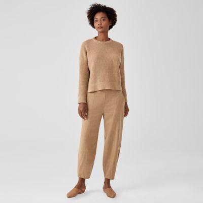 Soft Wool Flannel Lantern Pant