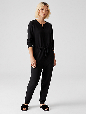 Cozy Brushed Terry Jumpsuit