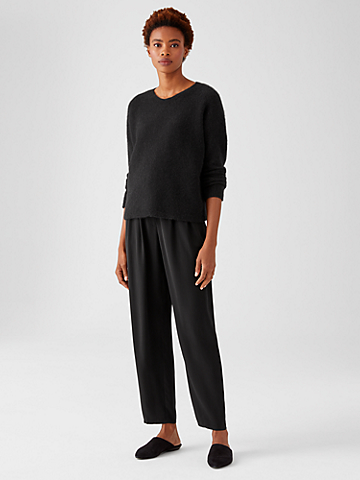 Silk Georgette Crepe Pleated Pant