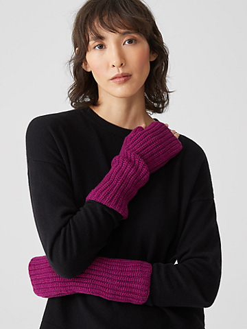 Recycled Cashmere Wool Glovelettes