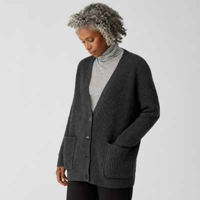 Recycled Cashmere Wool Boyfriend Cardigan