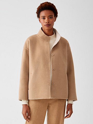Doubleface Wool Cashmere Boxy Coat