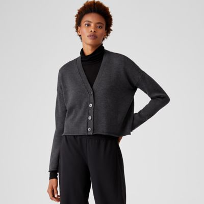 Merino Cropped Cardigan in Regenerative Wool