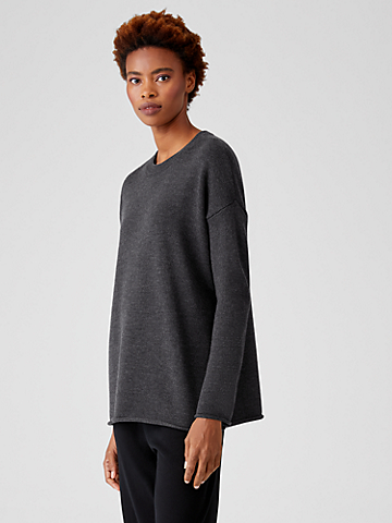 Merino Crew Neck Tunic in Regenerative Wool