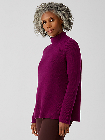 Merino Turtleneck Top in Regenerative Wool