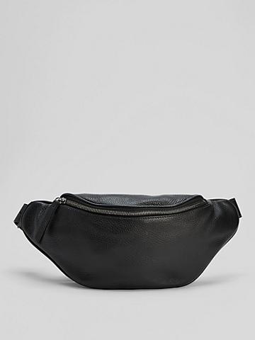 Grainy Italian Leather Belt Bag