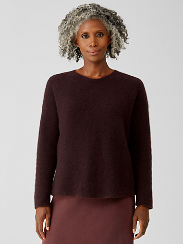 Cashmere Silk Bliss Crew Neck Top