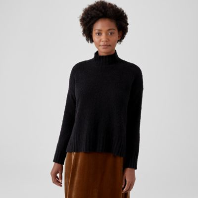 Organic Cotton Boucle Turtleneck Box-Top