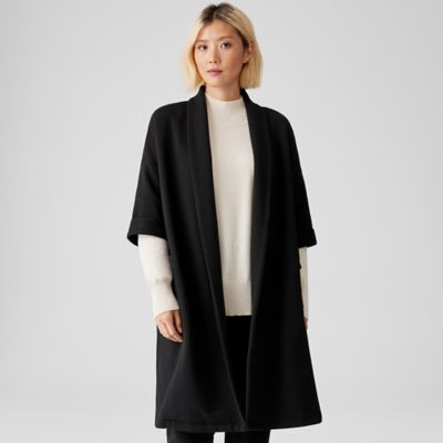 Organic Cotton Knit Twill Elbow-Sleeve Jacket