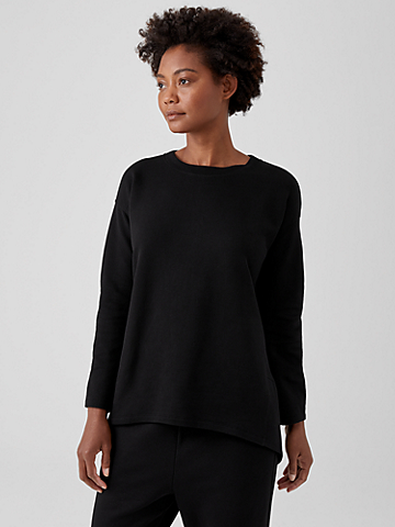 Organic Cotton Knit Twill Top