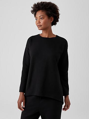 Organic Cotton Knit Twill Top