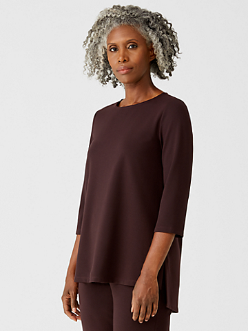 Flex Ponte Jewel Neck Tunic
