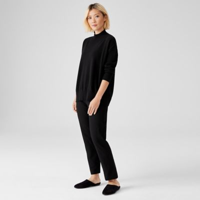 Washable Stretch Crepe Pant with Wide Yoke