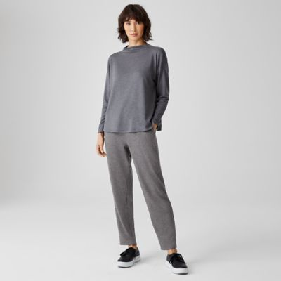 Stretch Terry Slouchy Ankle Pant