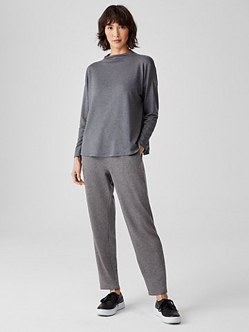Stretch Terry Slouchy Cropped Pant