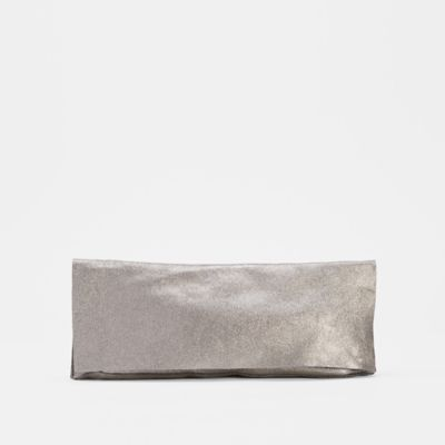 Shimmer Leather Clutch