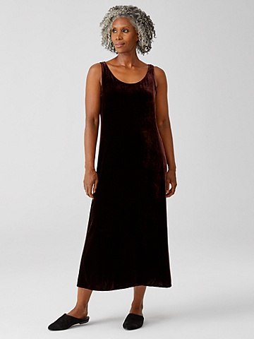Velvet Scoop Neck Dress