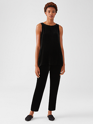 Velvet Tapered Ankle Pant