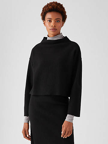 Lightweight Boiled Wool Boxy Top in Responsible Wool