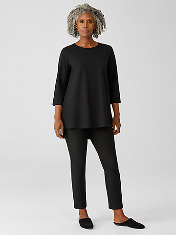 Ridge Knit Slim Ankle Pant