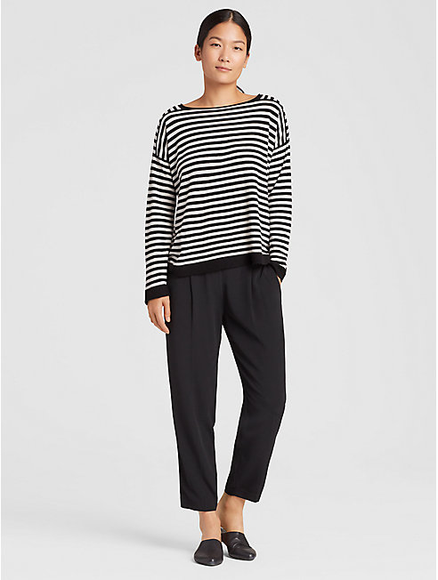 Seamless Italian Cashmere Stripe Top