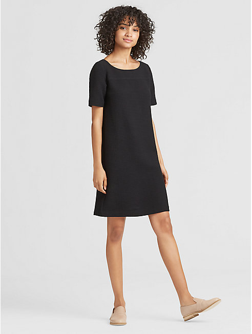 Cotton Blend Stretch Dress
