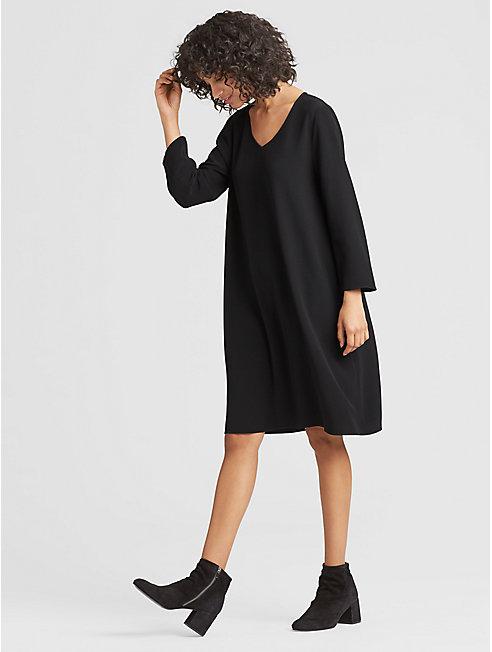 Tencel Viscose V-Neck Dress