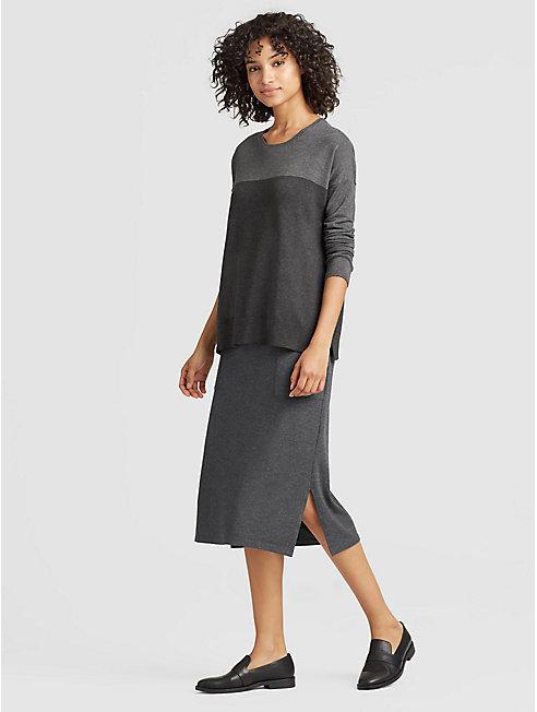 Cozy Tencel Slim Skirt