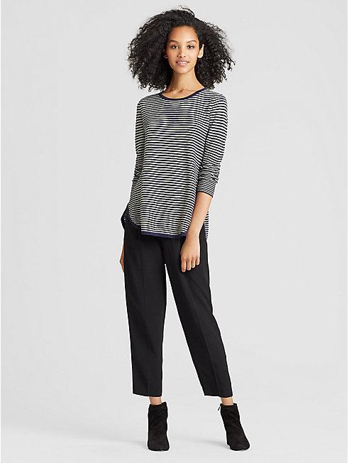 Organic Linen Cotton Slub Stripe Top