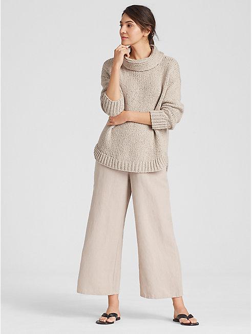 Peruvian Organic Cotton Cowl Neck Sweater