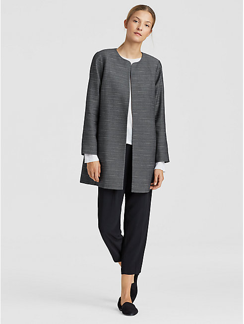 Organic Cotton Round Neck Long Jacket