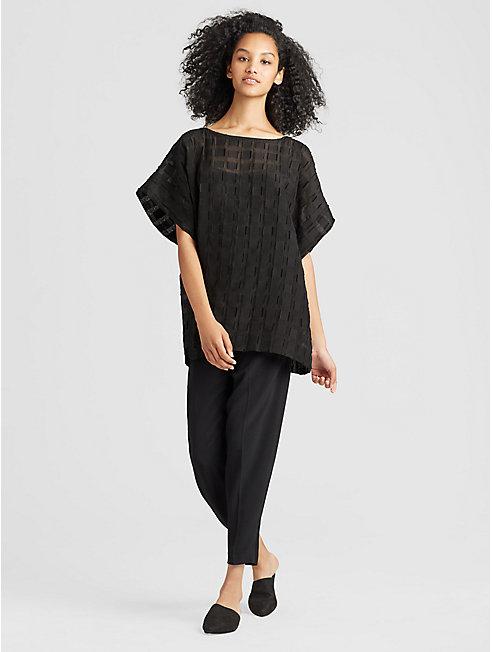 Organic Cotton Silk Sheer Top